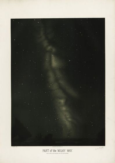 Trouvelot, Etienne Leopold: Part of the Milky Way. (The Trouvelot Astronomical Drawings, 1882) Space Print/Poster. Sizes: A1/A2/A3/A4 (00106)